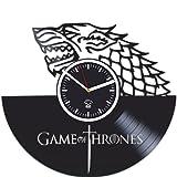 Vinyl Wall Clock Game Of Thrones, Birthday Gift, Vinyl Record, Best Gift For Her, Kovides, Home Art Decor, Vinyl Wall Clock Silent, Wall Clock Large, Mother Of Dragons Targaryen, Jon Snow