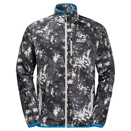 Jack Wolfskin Men's Flyweight Rain Forest Jacket, Alloy All Over, Large