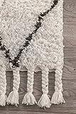 nuLOOM Venice Moroccan Shag Rug, 8' x 10', Natural