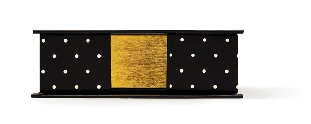 Kate Spade New York Loose Note Holder with Pen, Black Dots by Kate Spade New York (Image #1)