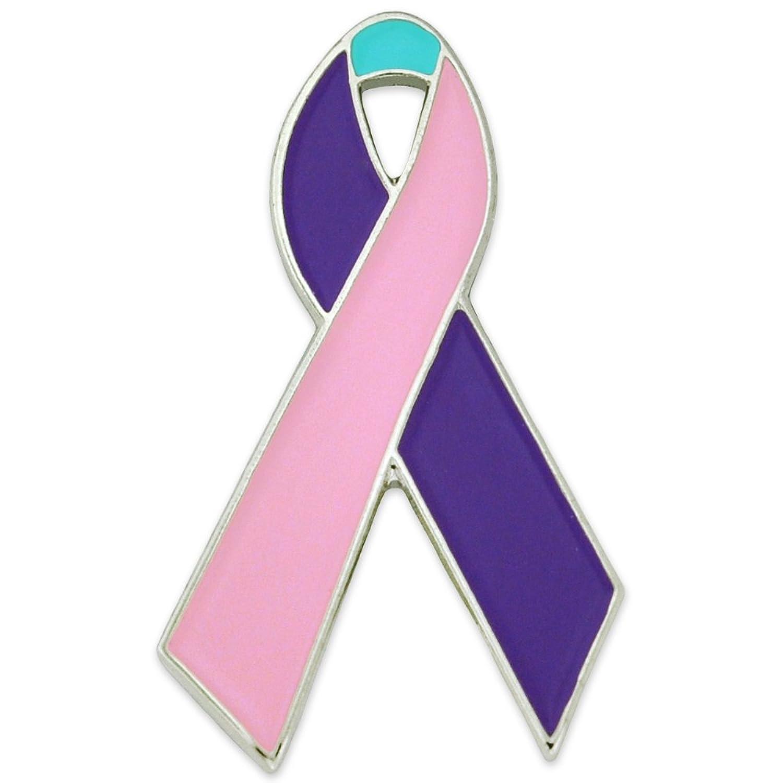 Amazon Pinmarts Thyroid Cancer Awareness Ribbon Enamel Lapel