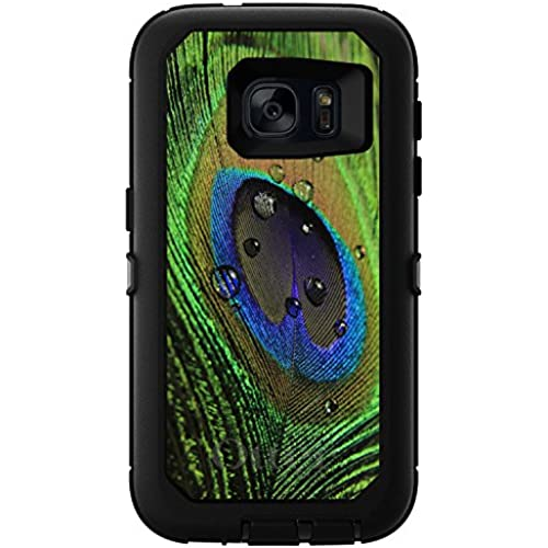 CUSTOM Black OtterBox Defender Series Case for Samsung Galaxy S7 - Peacock Feather Close Up Sales