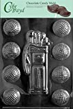 Cybrtrayd S028 Golf/Caddy/Balls Chocolate Candy Mold with Exclusive Cybrtrayd Copyrighted Chocolate Molding Instructions