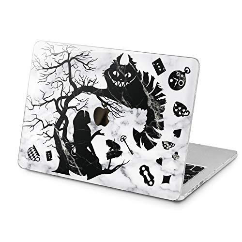 Lex Altern MacBook Protective Case Pro 15 Air 13 12 11 inch Alice in Wonderland 2018 2017 2016 Apple Cute Shell Marble Mac Disney Hard Retina Plastic Laptop 2015 Lightweight Cover Print Women Girly -