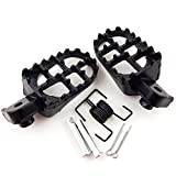 FLYPIG Aluminium Black Footpegs Foot Pegs Footrest Foot Rest For Pit Dirt Motor Bike Motorcycle PW50 PW80 TW200 XR50R CRF50 CRF70 CRF80 CRF100F