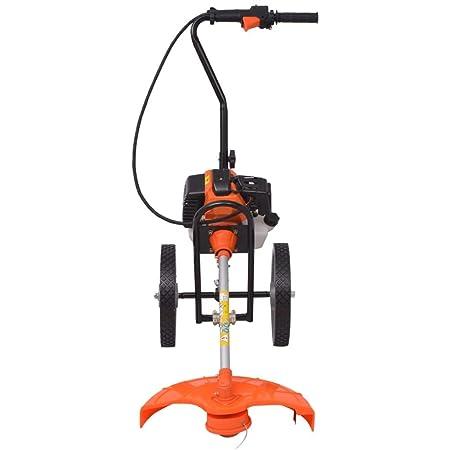 vidaXL Desbrozadora naranja y negra 52 cc 1,9 kW: Amazon.es ...