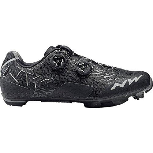 圧縮する土地オンNorthwave Rebel Cycling Shoe – Men 's Black/Anthracite、43.0