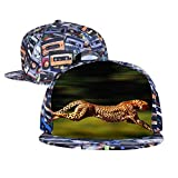 BUZAILIANX-NC A Running Leopard Men & Women Adjustable Unisex Snapback Hip-Hop Hat Flat Cap