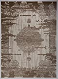 Antep Rugs Zeugma Collection Vintage Area Rug 288-Cream Brown 7'10 X 10'
