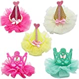 Beirui Princess Dog Cat Beatrice Hat Hair Clips Bling Pearl Grooming Accessories for Puppy Hair 5PCS