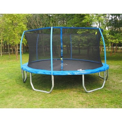 17' Oval Trampoline with Enclosure and Electron Blaster