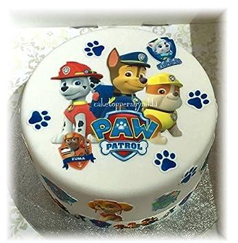 Paw Patrol Kuchen Dekoration Set Leicht Abzuziehen Und Anzubringen