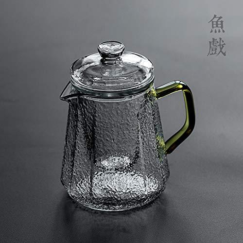 Teiera In Vetro Teiera Vetro Teiera In Vetro Teiera Vetro High Temperature Resistant Household Glass Teapot Black Tea Kung Fu Tea Set Tea Separation Filter Teapot Large Capacity 480Ml Prezzi