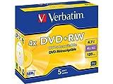 Verbatim 433229-5 DVD+RWMatt Silver 4,4,7GB
