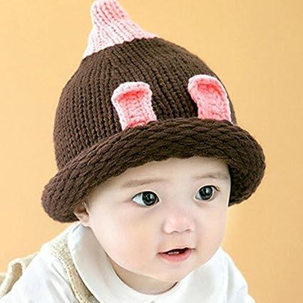 60a00dc4128 Buy Generic Yellow   Cute Winter Autumn Newborn Crochet warm Cotton Baby  beanie Hat Girl Boy Cap Children Unisex Bird Infant for 6-12M Online at Low  Prices ...