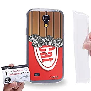 Case88 [Samsung Galaxy S4 Mini] Gel TPU Carcasa/Funda & Tarjeta de garantía - Art Fashion Red Cat Chocolate Bar Art1323