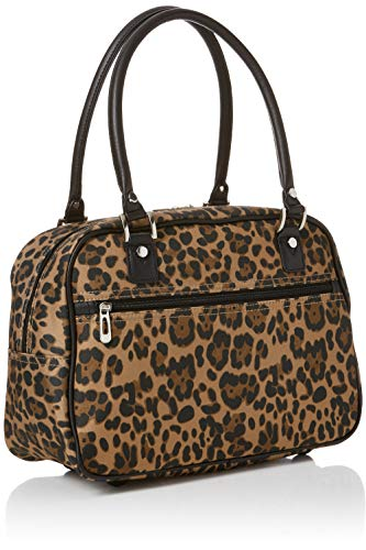 main L Sacs Leopard cm Brown portés Look x Pattern W Marron 25x38x42 H femme New Cabin qBw4ZX