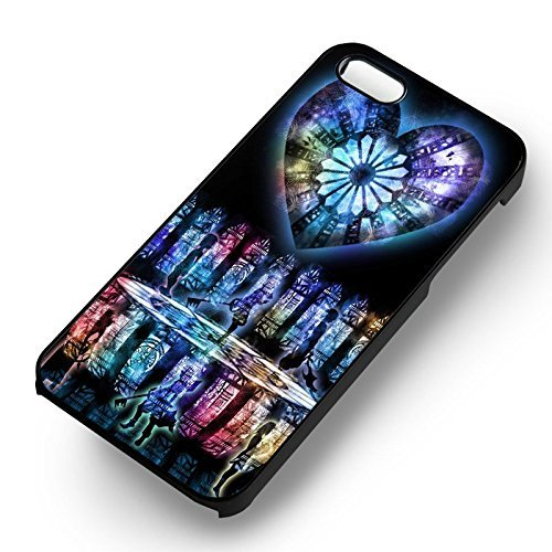 Kingdom Hearts Stained Glass Colors pour Coque Iphone 6 et Coque Iphone 6s Case (Noir Boîtier en plastique dur) K8M4ON