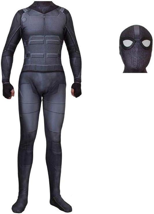 Traje De Traje De Hombre Araña Negro Adulto Mono Hombres Lejos De ...