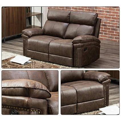 Amazon.com: FLIEKS - Juego de sillas reclinables para sofá ...