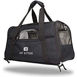 Jet Sitter Super Fly Airline Approved Pet Carrier Bag - TSA Airplane Travel Carriers Cat Dog Small Dogs Crate