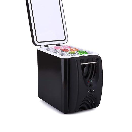 QWY Mini frigorífico con congelador,Incl. 2 Tomas de Corrient: 220 ...