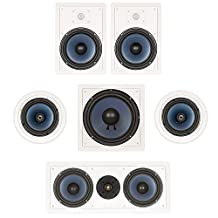 """Blue Octave In Wall and In Ceiling 5.1 Home Theater 8"""" Speaker Set New 1770 Watts LHT825"""