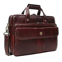 Hammonds Flycatcher Leather 15.6″ Brown Laptop Briefcase