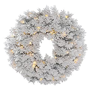Vickerman Flocked Alaskan Wreath 30