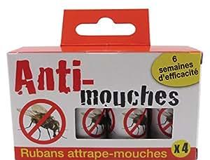 Générique Juego de 4Cintas Anti-mouches Blanco 9,12X 2,2x 5,5cm
