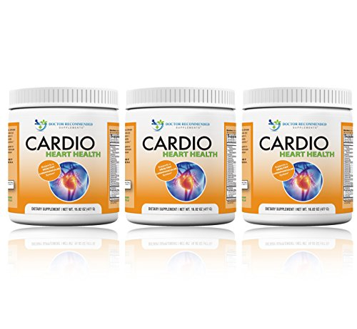 Cardio Heart Health-L-Arginine Powder Supplement-5000mg plus 1000mg L-Citrulline-with Minerals, and Antioxidants Vitamin C & E-Total Cardiovascular System Health-Formulated by REAL DOCTORS (Pack of 3) For Sale