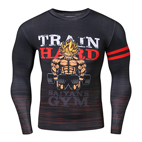 Red Plume Men's Cartoon Character Shirt Sports Outdoor Running Functional Long Sleeve Tee (Style C, - Cartoons Characters Male