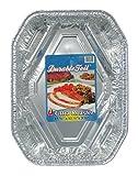 Durable Foil Ultra Aluminum Roasting Pan, 18-1/2'' x 13-1/2'' x 3-5/8'' (Pack of 12)