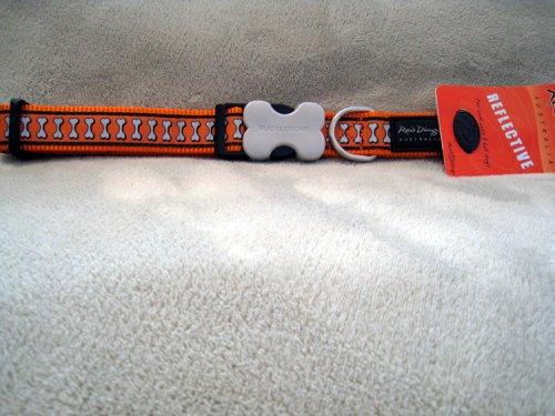 Dog Collar Reflective Lots-a-Bones Orange - Medium