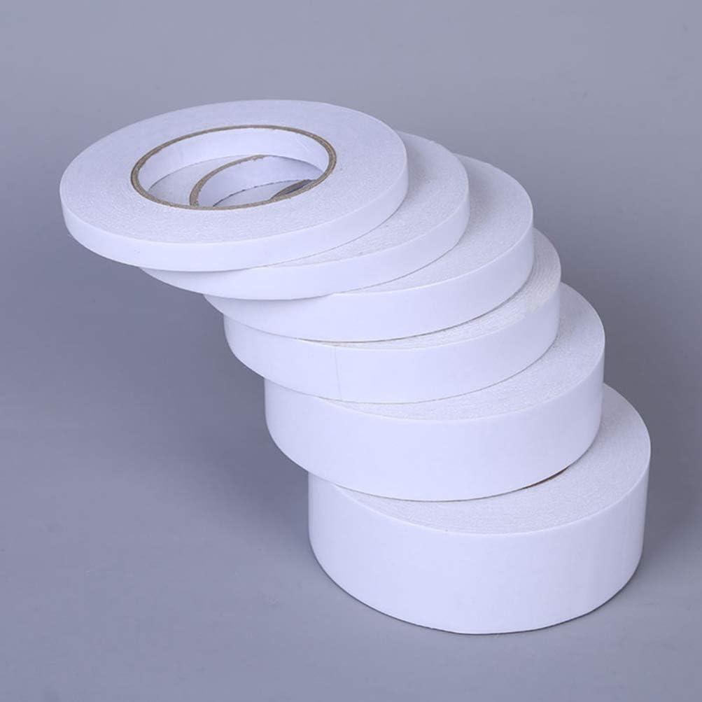 HEALLILY 10 Piezas Cinta Adhesiva de Doble Cara Cinta Adhesiva para Manualidades de Oficina Papeler/ía Suministros Scrapbooking 0 5 Cm X 8 M