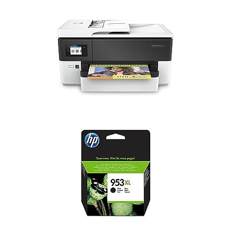 HP Officejet Pro 7720 – Impresora multifunción de formato ancho + HP 953XL - Cartucho de tinta para impresoras, negro