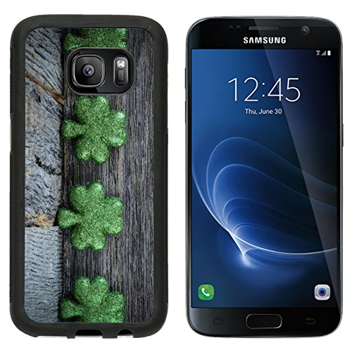 MSD Premium Samsung Galaxy S7 Aluminum Backplate Bumper Snap Case St Patrick s Day Background IMAGE 35037099
