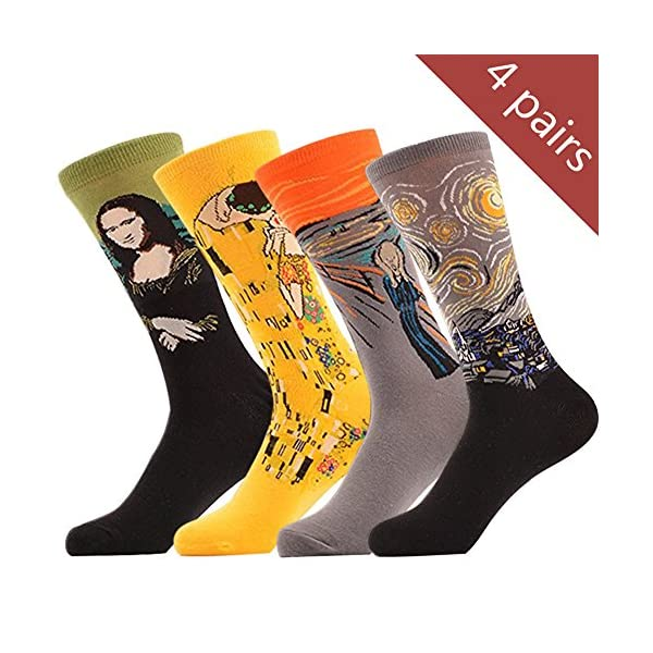 863d38bb6 Yijiujiuer Men s Crazy Socks Women s Funny Cool Dress Socks Funky ...