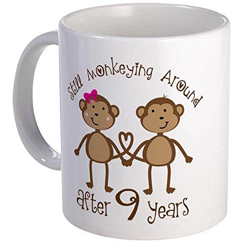 Gift Monkey Unique (CafePress - 9Th Anniversary Love Monkeys Mug - Unique Coffee Mug, Coffee Cup)