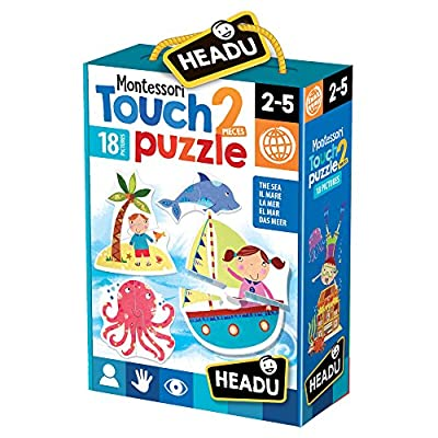 Headu It21925 Montessori Touch 2 Pieces Puzzle The Sea