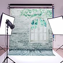 Mohoo 5x7ft Vinyl Photography Background Brick Wall Window Theme Photo Backdrop Studio Props