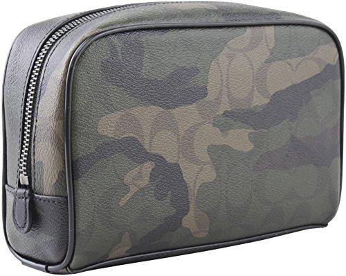 Coach Overnight Travel Kit in Signature Camo Coated Canvas Bag, Style F12008, Mahogan/ Dark Green Camo by Coach (Image #2)