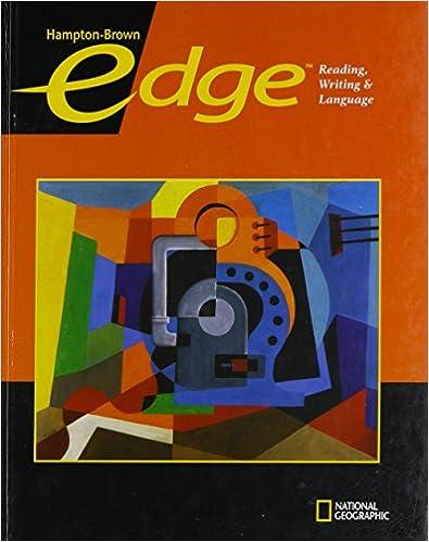 Edge Level A Student Edition Hampton Brown Edge