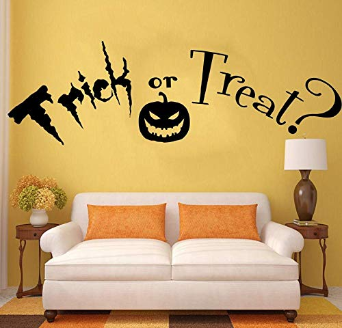 (Wall Stickers Trick Or Treat Quote, Halloween. Vinyl Wall Art Sticker Decal Mural. Home Wall Decor Living Room Hallway Wall)