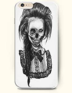 Apple iPhone 6 Case ( 4.7 inches) with Design of A Scarry Woman Skull - Holloween Style - Shani Authentic iPhone...
