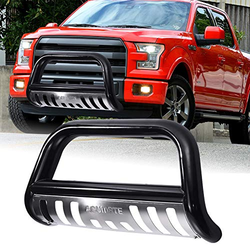 ACUMSTE Front Bumper Bull Bar Grille Guard Stainless Skid Plate Fit for 04-18 Ford F150