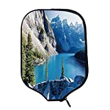 YOLIYANA Nature Durable Racket Cover,Moraine Lake Banff National Park Canada Mountains Pines Valley of The Ten Peaks for Sandbeach,One Size