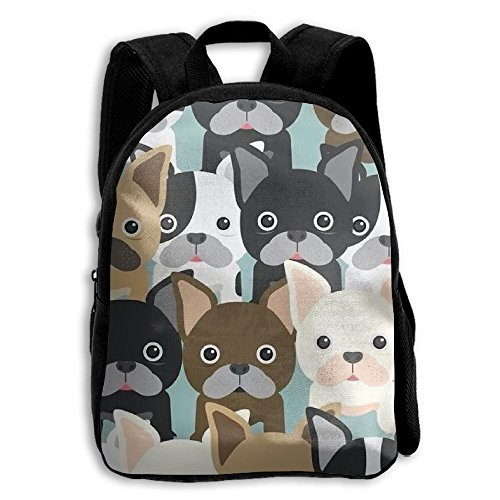 id Boys Girls Toddler Pre School Backpack Bags Lightweight (Shih Tzu Poodle Puppies)
