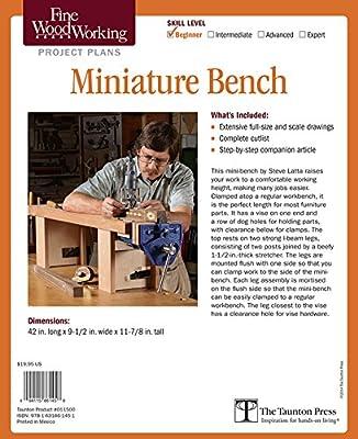 Superb Fine Woodworkings Miniature Bench Plan Steve Latta Lamtechconsult Wood Chair Design Ideas Lamtechconsultcom