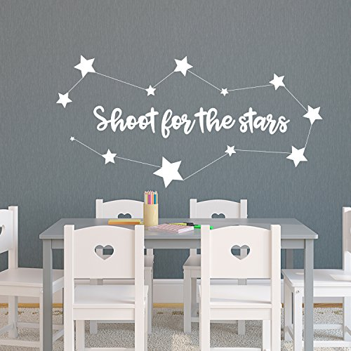 (Vinyl Wall Art Decal - Shoot for The Stars - 18